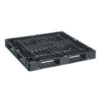 Plastic pallet black 1100x1100x125mm