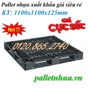 Pallet nhựa đen 1100x1100x125mm
