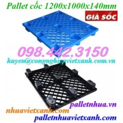 Pallet cốc 9 chân 1200x1000x140mm