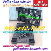 Pallet nhựa đen 1000x600x100mm