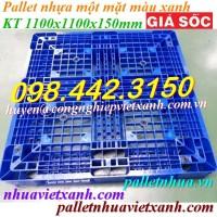 Pallet nhựa xanh 1100x1100x150mm