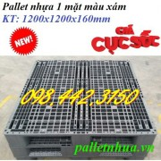 Pallet nhựa 1200x1200x160mm - xám