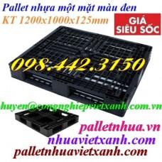 Pallet nhựa đen 1200x1000x125mm