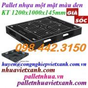 Pallet nhựa đen 1200x1000x145mm