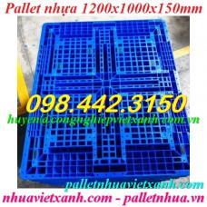 Pallet nhựa 1200x1000x150mm PL1210ĐTX