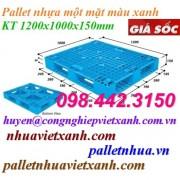 Pallet nhựa 1200x1000x150mm PL1210ĐT