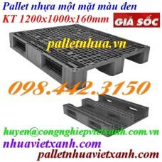 Pallet nhựa đen 1200x1000x160mm