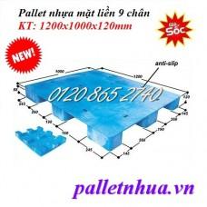 Pallet nhựa mặt liền PL121012
