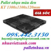 Pallet nhựa đen 1300x1100x120mm