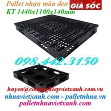 Pallet nhựa đen 1440x1100x140mm