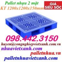 Pallet nhựa hai mặt 1200x1200x150mm