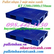 Pallet nhựa hai mặt 1200x1000x150mm PL403