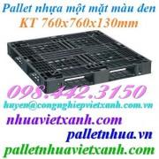 Pallet nhựa đen 760x760x130mm