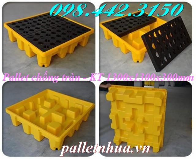 Pallet nhựa chống tràn 1300x1300x300mm