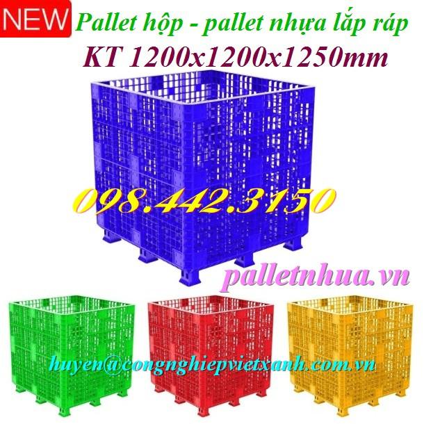 Pallet nhựa lắp ráp 1200x1200x1250mm