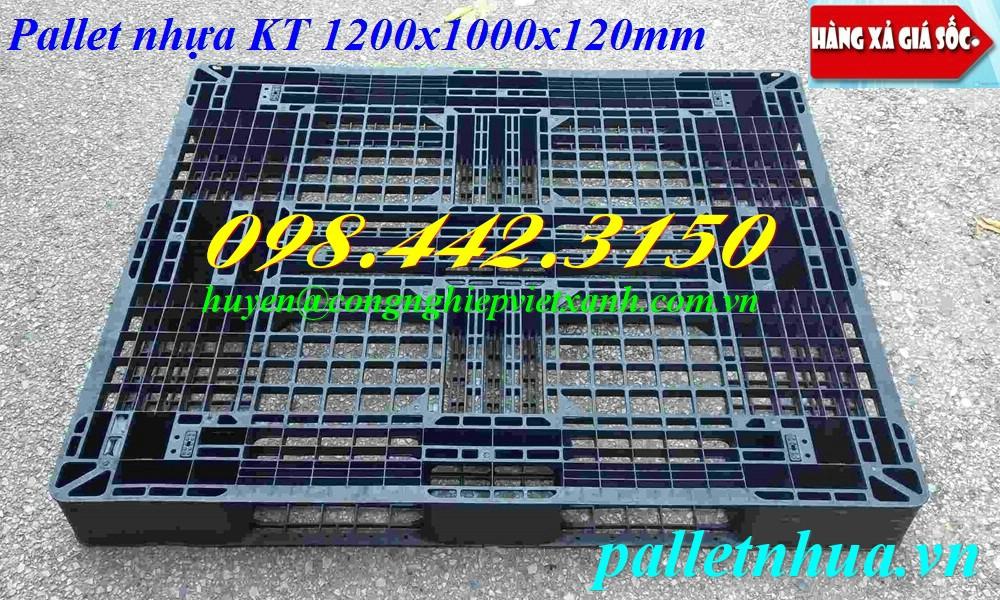 Pallet nhựa 1200x1000x120mm